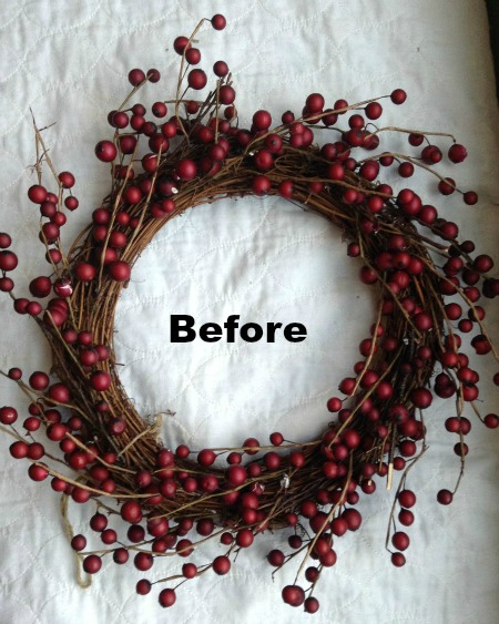 Berry Wreath Before