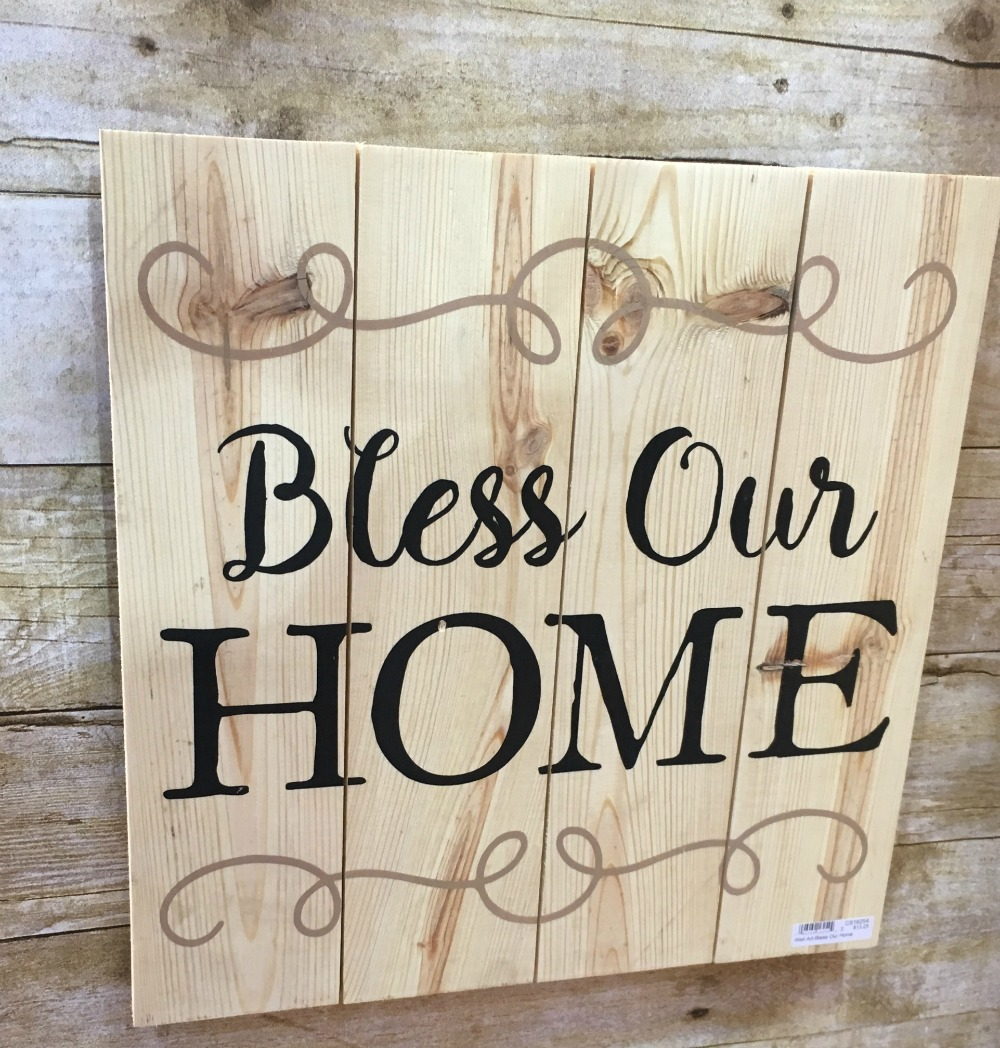 decor trends text God bless our home