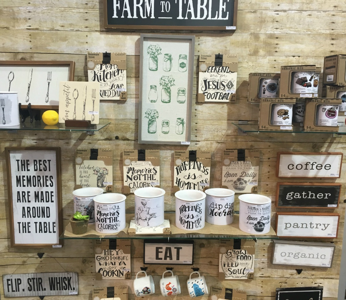 text decor trends kitchen farm to table