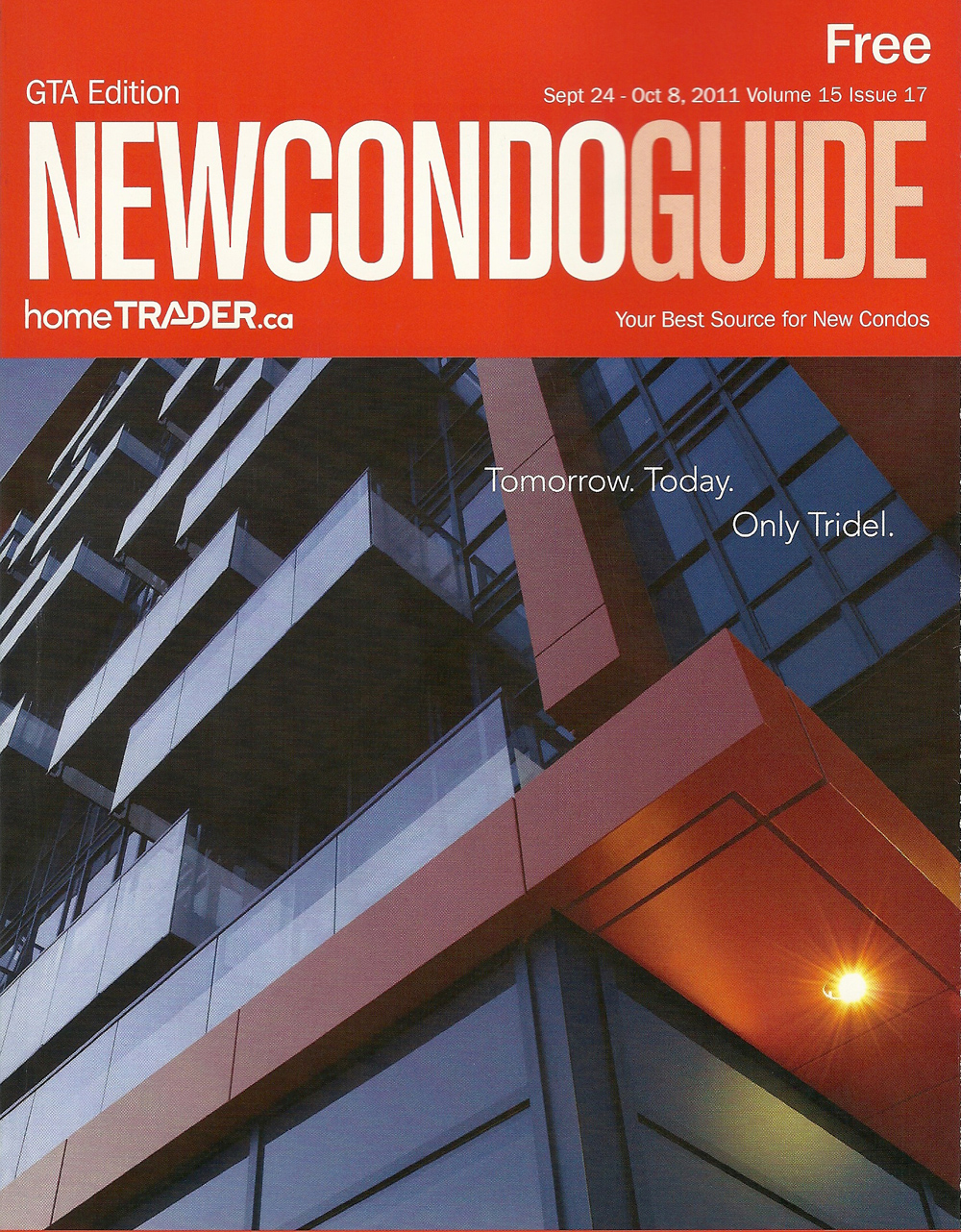 New Condo Guide September 24 - October 8 2011 Cover